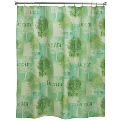 Bacova Spa Trees Shower Curtain In Green