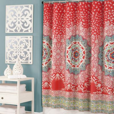 red and navy shower curtain. Best Red And Navy Shower Curtain Photos House Designs Veerle Us Coral Colored  Interior Design