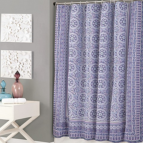 Jessica Simpson Mosaic Shower Curtain in Purple - Bed Bath & Beyond