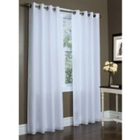 Commonwealth Home Fashions Rhapsody 84-Inch Double Wide Grommet Top Window Curtain Panel in White