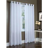 Rhapsody 84-Inch Double Width Grommet Top Window Curtain Panel in White