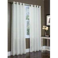 Commonwealth Home Fashions Rhapsody 63-Inch Double Wide Grommet Top Window Curtain Panel in Ivory