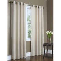 Commonwealth Home Fashions Rhapsody 84-Inch Double Wide Grommet Top Window Curtain Panel in Mushroom