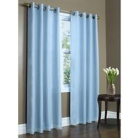 Commonwealth Home Fashions Rhapsody 84-Inch Double Wide Grommet Window Curtain Panel in Aqua
