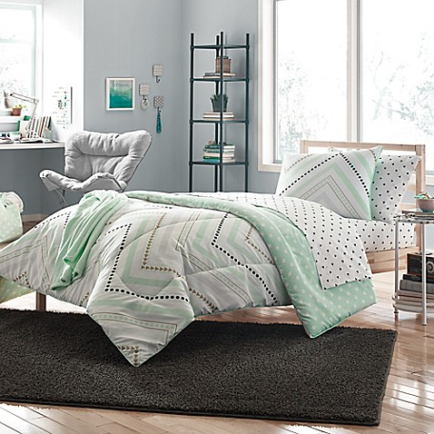 Nikki 7 9 piece comforter set bed bath beyond - Bed bath and beyond bedroom furniture ...