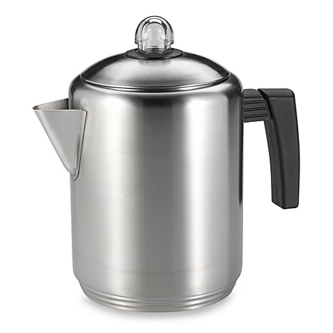 Copco Brushed Stainless Steel 6 Cup Stovetop Percolator