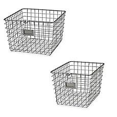Spectrumu0026reg; Metal Wire Storage Basket In Satin Nickel