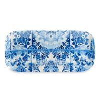 Blue Floral Melamine Tray