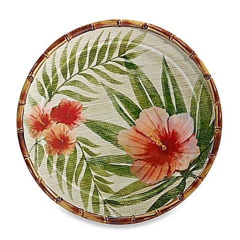 Hibiscus Palm Dinner Plate  sc 1 st  Bed Bath \u0026 Beyond & Hibiscus Palm Dinner Plate - Bed Bath \u0026 Beyond