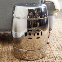 Abbyson Living® Reina 17-Inch Ceramic Garden Stool in Silver