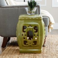 Abbyson Living® Akane Asian 19.5-Inch Ceramic Garden Stool in Lime