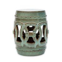 Abbyson Living® Talia 17-Inch Ceramic Garden Stool in Teal