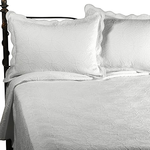 Matelasse Coventry Coverlet Set In White Bed Bath Amp Beyond