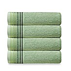 Dimora Turkish Cotton Bath Towels in Green (Set of 4)