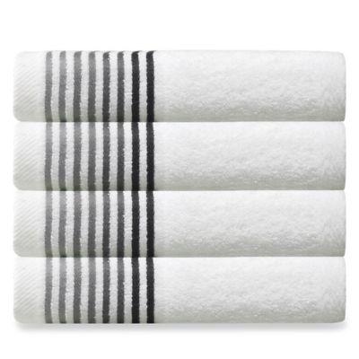 dimora turkish cotton hand towels in white set of 4 - Turkish Towels