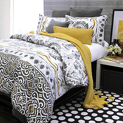 Glaser Furniture : Glaser Duvet Cover In Yellow Bed Bath Beyond
