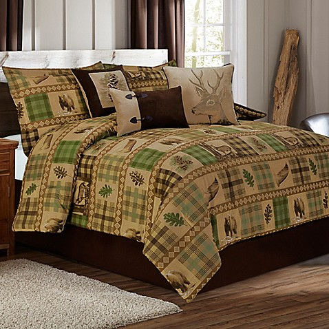 Woodland Duvet Cover Set In Tan Brown Bed Bath Amp Beyond