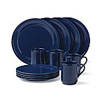 kate spade new york All In Good Taste Sculpted Scallop 12-Piece Dinnerware Set in Navy