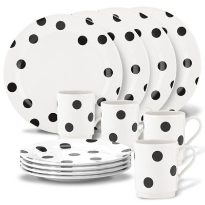 Kate Spade New York All In Good Taste™ Deco Dot 12 Piece Dinnerware Set
