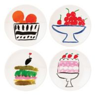 kate spade new york All In Good Taste Pretty Pantry Appetizer Plates (Set of 4)