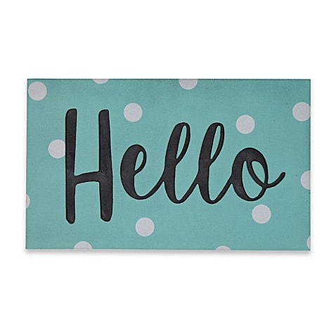 Mohawk Home 174 Big Hello Confetti 30 Inch X 18 Inch Door Mat
