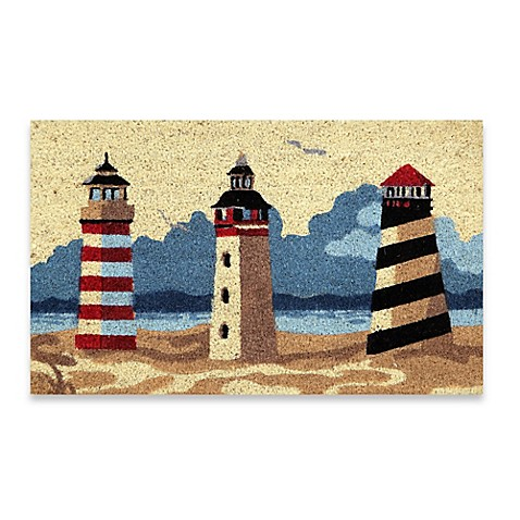 Mohawk Home 174 Beacons Of The Ocean Lighthouse Coir Door Mat