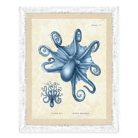 The Framed Giclée Blue Octopus Print I Wall Art