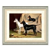 Dog Scene I Framed Art Print