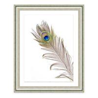 Blue Feather II Framed Art Print