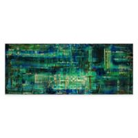 Aporia Urban Abstract Metal Wall Art in Blue