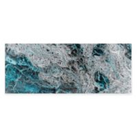 Storm Turquoise Abstract Metal Wall Art
