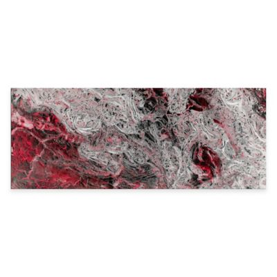 Storm Red Abstract Metal Wall Art