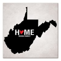 Pied Piper Creative West Virginia State Pride Canvas Wall Art