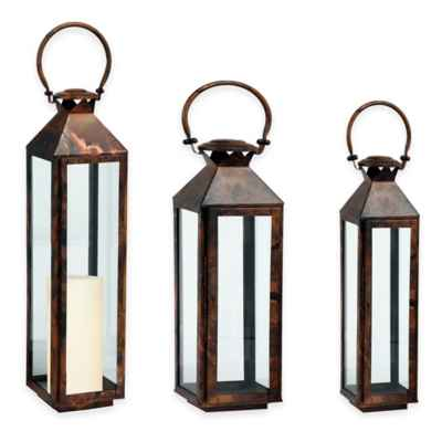 Cambridge Classic Lantern Candle Holder in Brushed Copper