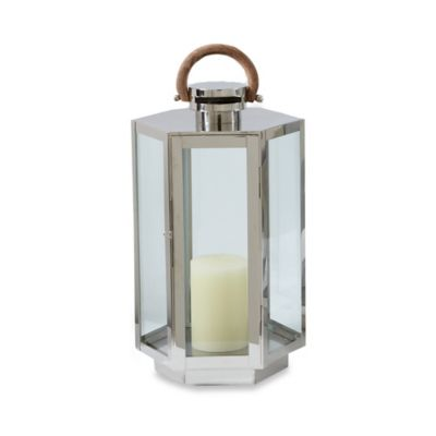 Cambridge Marine Grade HarborView 20 Inch Lantern Candle Holder In Nickel