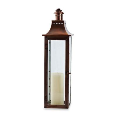 Cambridge Traditions 36 Inch Lantern Candle Holder In Antique Copper