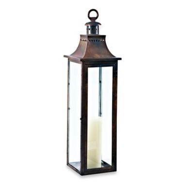 Cambridge Traditions 36 Inch Lantern Candle Holder In Burnished Copper