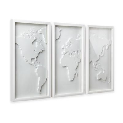Umbra Mapster 3d Shadow Box Wall Art Set Of 3