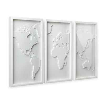 Umbra® Mapster 3D Shadow Box Wall Art (Set of 3)