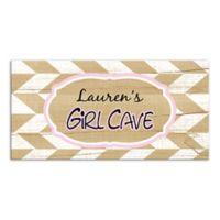Girl Cave Herringbone Canvas Wall Art
