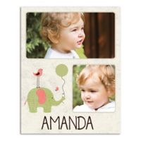 Friends and Elephant Canvas Wall Art