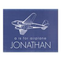 """""""A Is for Airplane"""" Canvas Wall Art"""