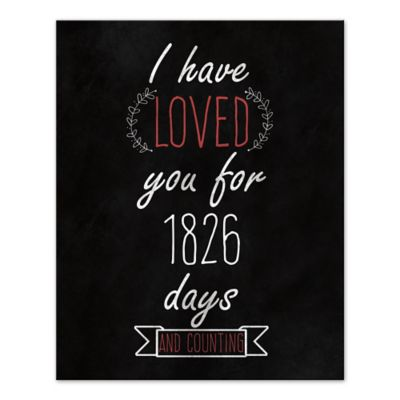 Loved You Since Day One Canvas Wall Art  sc 1 st  Bed Bath u0026 Beyond & Buy Black Red Wall Decor from Bed Bath u0026 Beyond