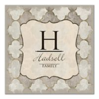 Pied Piper Creative Quatrefoil Initial Canvas Wall Art