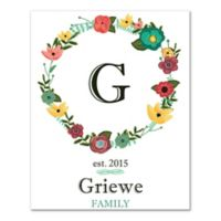 Family Letter Monogram Wall Art