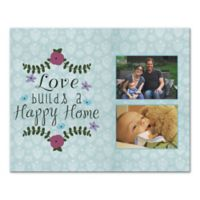 """""""Love Builds a Happy Home"""" Canvas Wall Art"""
