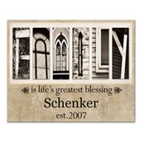 "Pied Piper Creative ""Family Is Life's Greatest Blessing"" Canvas Wall Art"