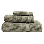 Herringbone Bath Towel in Light Olive