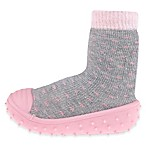 Capelli New York Size 6M Polka Dot Slipper Socks in Grey