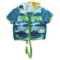 Aqua Leisure® Size S/M Boys' Short Sleeve Camo Swim Vest in Blue
